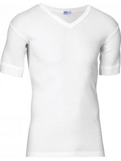 JBS bomulds t-shirt i hvid med V-hals til herre