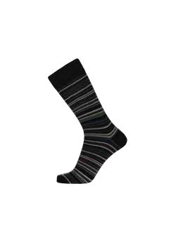 JBS bomuldsstrømper i sort med forskellige farvet striber til herre