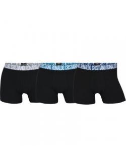 CR7 3-pak boxershorts af økologisk bomuld i sort til herre
