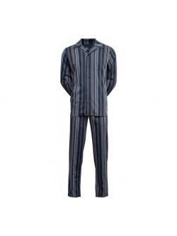 jbs Pyjamas Woven med blå striber til herre