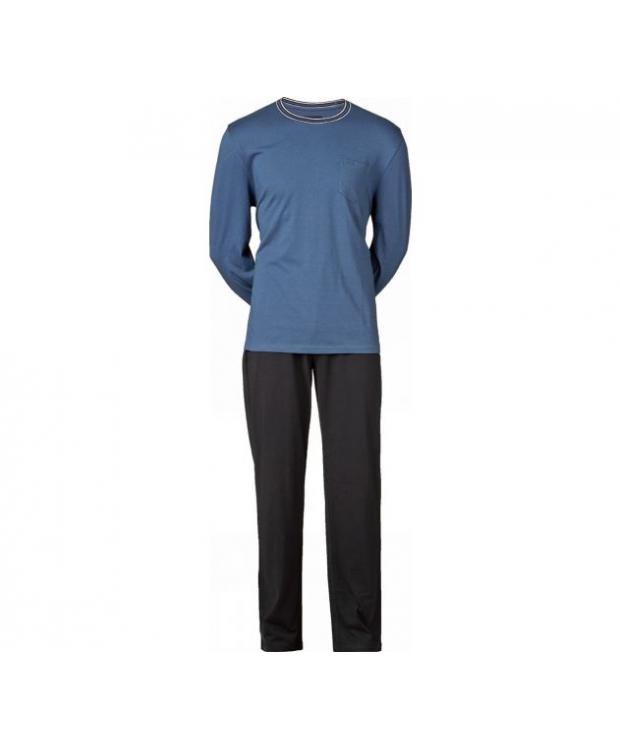 JBS pyjamas jersey i lyseblå til herre