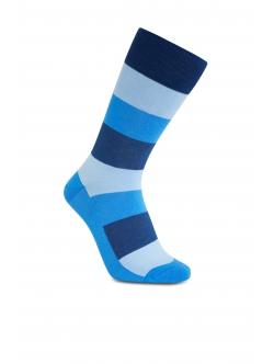 iZ Sock bambusstrømper med tykke striber i blå