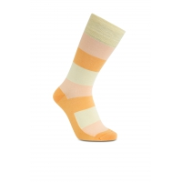 iZ Sock bambusstrømper med tykke striber i orange og gul