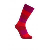 iZ Sock bambusstrømper med tykke striber i rød