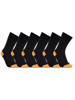 iZ Sock 6pak bambusstrømper i orange hæl og tå til unisex