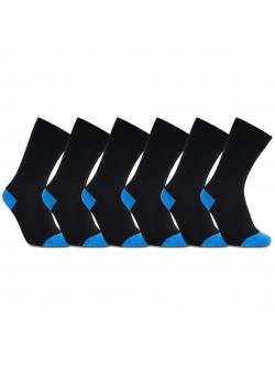 iZ Sock 6pak bambusstrømper i blå hæl og tå