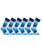 iZ Sock 6pak bambusstrømper med tykke striber i blå