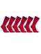 iZ Sock 6pak bambusstrømper med tykke striber i rød