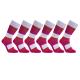 iZ Sock 6pak bambusstrømper med tykke striber i multifarver