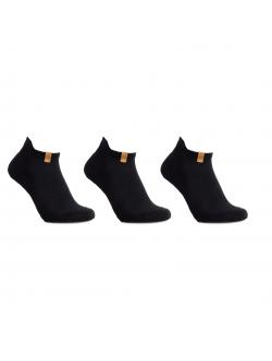 iZ Sock 3pak bomuld ankelstrømper i sort ( NY KOLLEKTION )