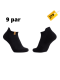 iZ Sock 9pak sports ankelstrømper i sort m.bomuld ( NY KOLLEKTION )