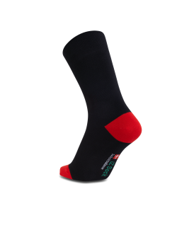 iZ Sock - bambusstrømper i rød hæl og tå. Unisex