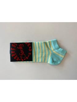 Sokker fra Sizesock i turkis med gule striber Str:35-38 (restparti) Spar 50%