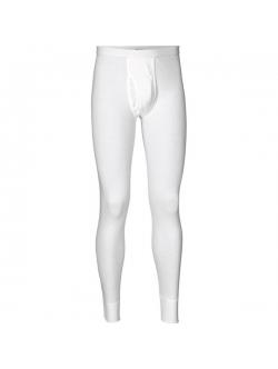 JBS lange bomulds underbukser i hvid med gylp til herre