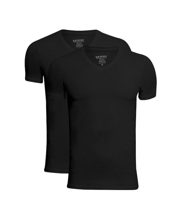 JBS 2-pak bambus t-shirt med V-hals i sort til herre