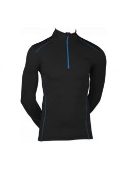 Langærmet T-shirt fra ProActive i sort med blå syninger