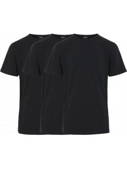 Claudio T-shirt 3pak i sort til herre
