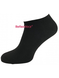 "ReflexWear® Comfort & Diabetes ""Low Cut""  Tynde ankel strømper i sort. Unisex"