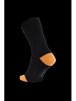 iZ Sock - bambusstrømper i orange hæl og tå. Unisex