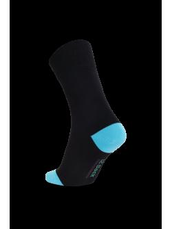 iZ Sock - bambusstrømper i turkis hæl og tå. Unisex