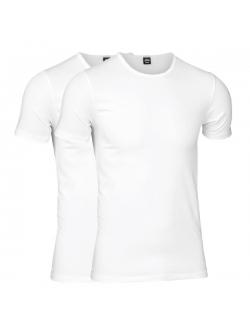 JBS 2-pak bambus t-shirt med V-hals i hvid til herre