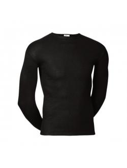 JBS langærmet bomulds t-shirt i sort til herre