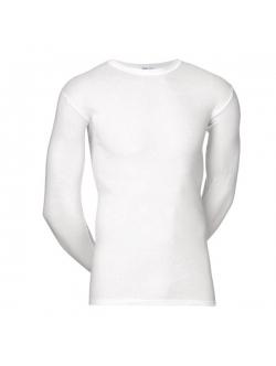 JBS klassisk langærmet bomulds t-shirt i hvid til herre