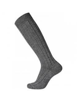 EGTVED-WOOL Sock Kneehigh. Mørkegrå