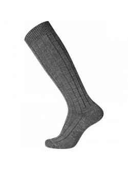 EGTVED-WOOL Sock Kneehigh. Mørkegrå