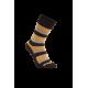 iZ Sock - bambusstrømper med tykke striber i orange og brun. Unisex