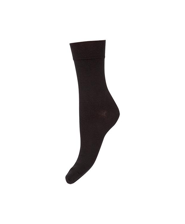 Decoy bomuldsstrømper soft i sort til kvinder