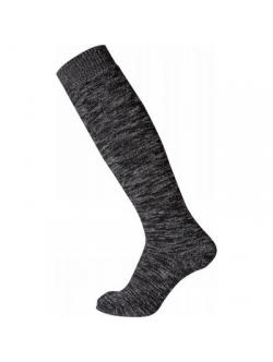"""Egtved uld knæstrømper """"Thermo socks"""" i sort og mørkegrå"""