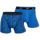 Claudio 2-pak bomulds tights med stretch i blå til herre