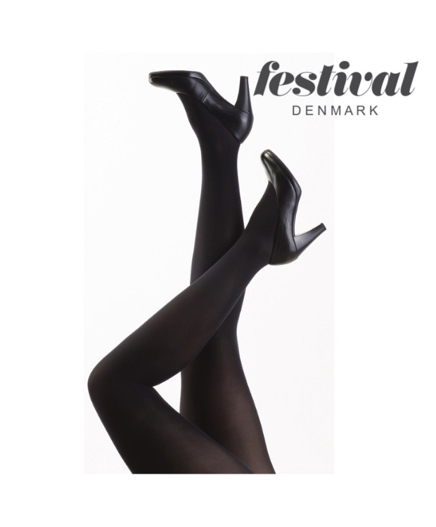 Strømpebukser, Amelie 40D Black tight. Klassiske sort.