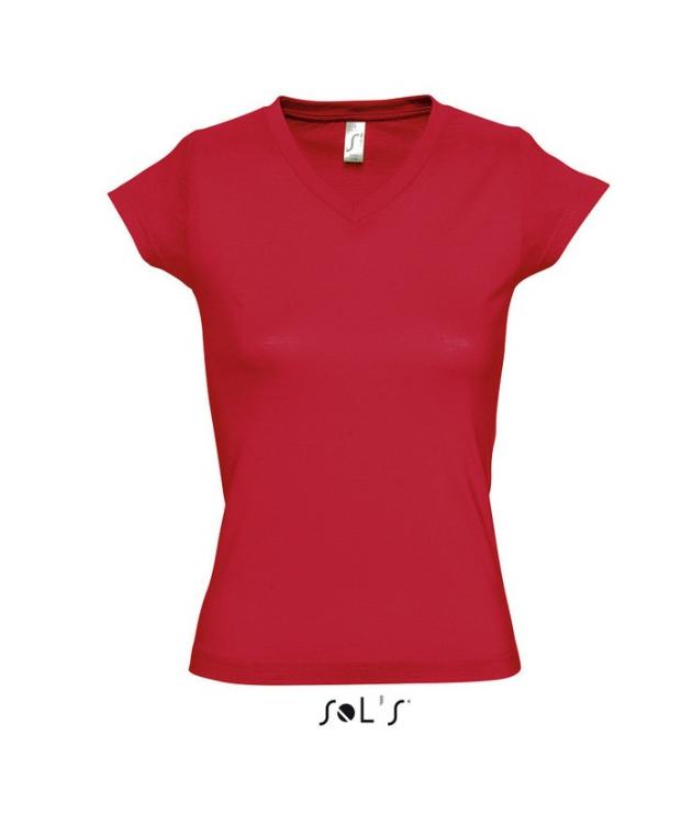 Lækker V-hals T-shirts i klassisk sort til kvinder. Faconsyet