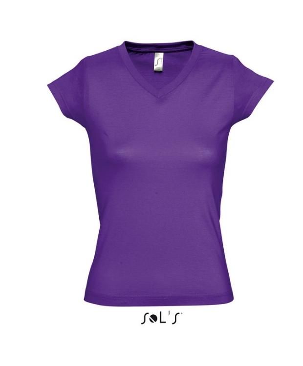 T-shirt med V-Hals til kvinder – Lækker farve