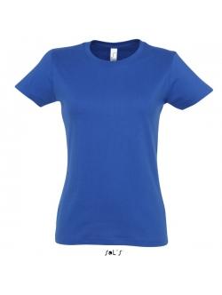 Sols faconsyet - T-Shirt i blå med rund hals til kvinder