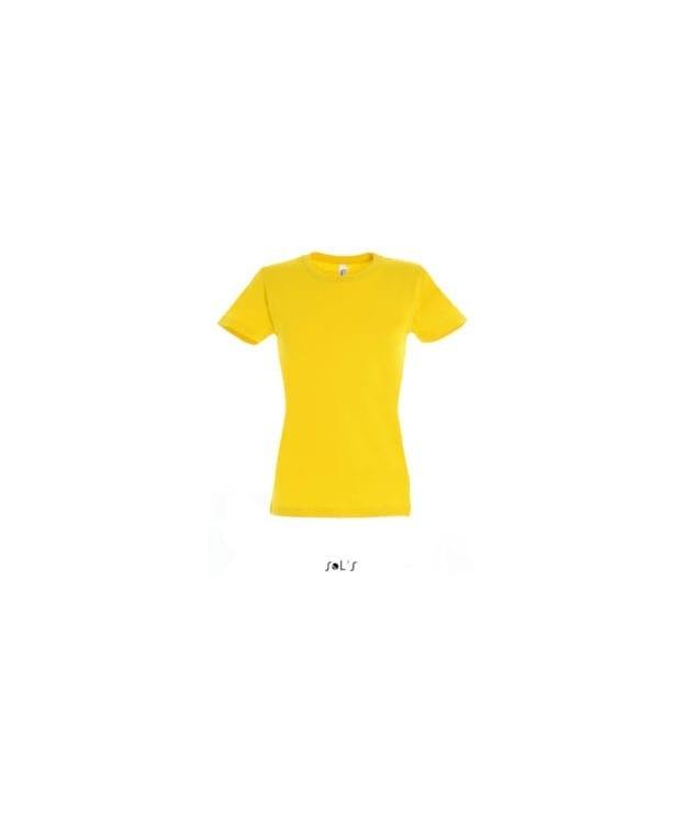 Lækker gul T-Shirt til kvinder – SOLs med rund hals