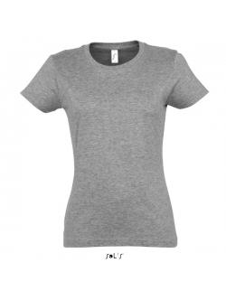 Grå t-shirt til kvinder. Rund hals – sols