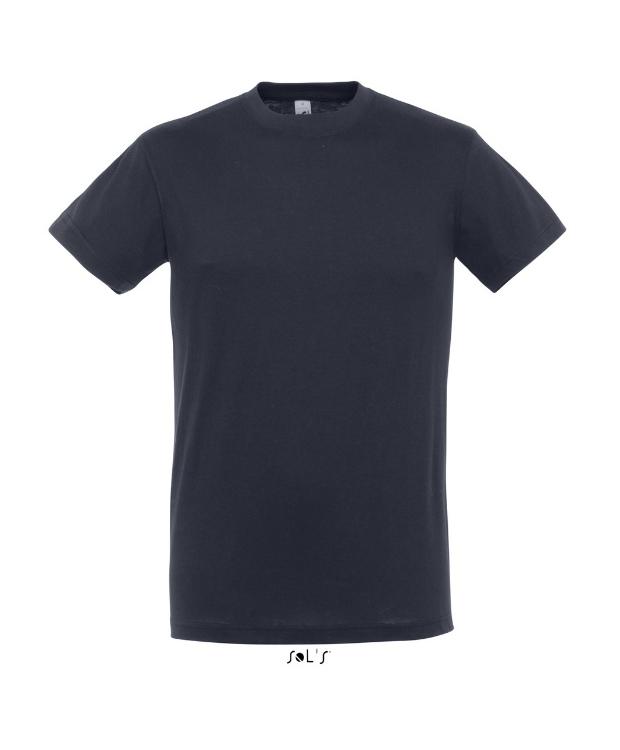 Sols Regent – Navy T-shirt. Klassisk snit med rund hals