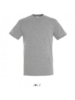 Sols Regent – Grå t-shirts i bomuld – Rund hals.