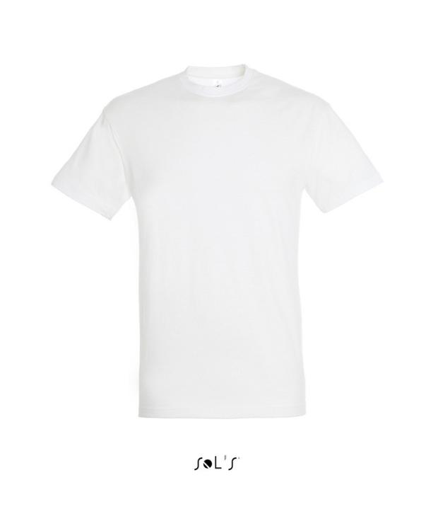 Sols Regent – Hvid T-shirt. Klassiske snit med rund hals