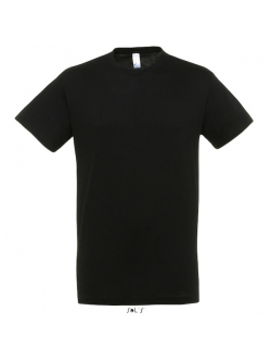 Sols Regent – Sort T-shirt. Klassiske snit med rund hals