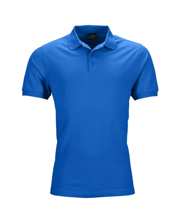 Mens Polo Piqué, Elastic – Lækker blå
