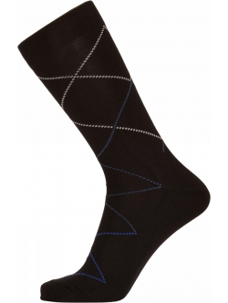 Egtved bomuldsstrømpe i sort med stribet design til herre