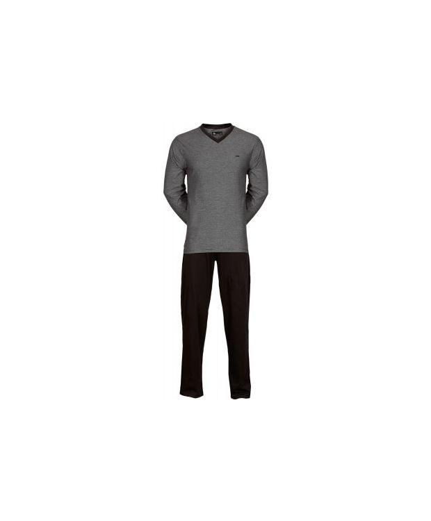 JBS pyjamas jersey i grå/sort til herre