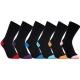 iZ Sock 6pak bambusstrømper med forskellige farvet hæl og tå til unisex