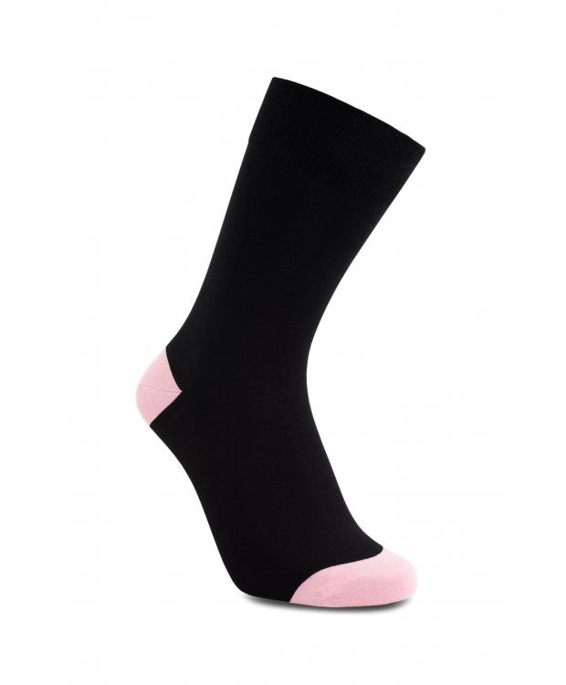 iZ Sock bambusstrømper i lyserød hæl og tå til unisex