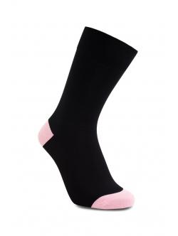 iZ Sock bambusstrømper i lyserød hæl og tå til børn