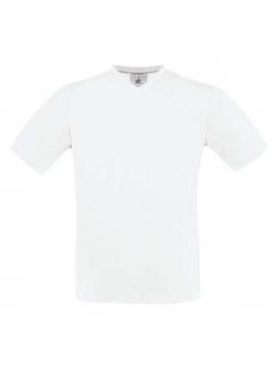 B&C Exact t-shirt med v-hals i hvid til herre